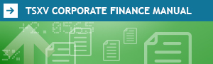 TSXV Corporate Finance Manual