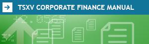 TSXV Corporate Finance Manual